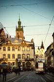 Market square in Lviv — Stock Photo