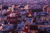 Twilight in Lviv — Stock Photo