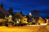 View of small swedish town — Stock Photo