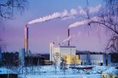 Thermal power plant in winter — Stock Photo
