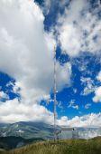 Paisaje de montaña de los cárpatos — Foto de Stock