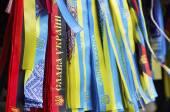 Ukrainian nationalistic symbols — Stock Photo