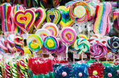 Lolipops at market — Stock Photo