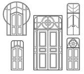 Retro doors 2 — Stock Vector