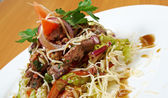 Salad with beef liver — Zdjęcie stockowe