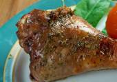Honey garlic glazed  Turkey leg  baked — Stock Photo