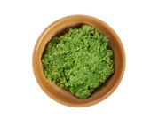 Bowl of mushy peas, — Stock Photo