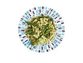 Pesto con patate fagiolini — Stock Photo