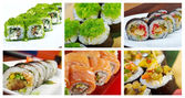 Food set of different Sushi Roll  — Stock Photo