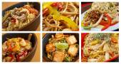 Food set of different   chinese noodle . — Stock Photo