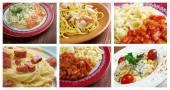 Food set of different  italian pasta.  — Stock Photo