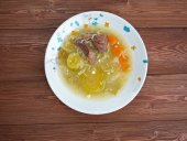Zuppa con carne di manzo — Zdjęcie stockowe