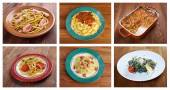 Food set of different  pasta. — Stock Photo