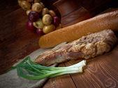 Delicious Jerk  pork belly — Stockfoto