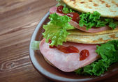 Tacos ham — Stock Photo