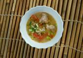 Boiled rice pork or mush — Stock Photo