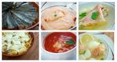 Food set of different  seafoods. — Stock Photo