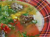 Mexican Meatball Soup — Stockfoto