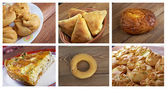 Food set different  pastry. — Stock Photo