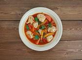 Tortellini Minestrone Soup — Stock Photo
