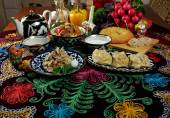 Food set  Central Asian cuisine — Stock Photo