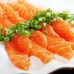 Salmon seshimi — Stock Photo #77950484