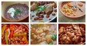 Set of different  beans stew — Stock Photo