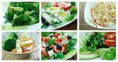 Food set    Salad — Stock Photo