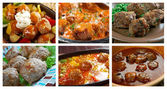 Set of different  meatballs . — Stock Photo