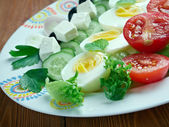 Salade composee du soleil — Stock Photo