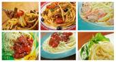 Set of different spaghetti. — Stock Photo