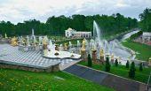 Grand cascade .Peterhof Palace — Stock Photo