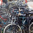 Amsterdam, bicycles parking near Central Station — Stock Photo #56847341