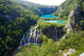 Fantastic view in the Plitvice Lakes National Park . Croatia bright sunny day — Stock Photo