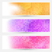 Abstract dotted cards collection — Stock Vector