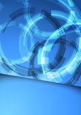 Gear folder blue abstraction — Vecteur