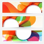 Liquid flow colorful banners set — Stock Vector