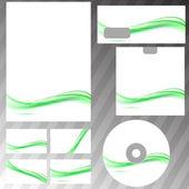 Green swoosh line concept corporate template — Vetorial Stock