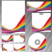 Rainbow swoosh line template — Stock Vector