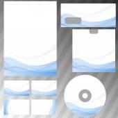 Concepto de onda líneas papelería — Vector de stock
