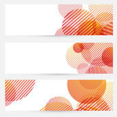 Business cards collection - circle retro pattern — Stock Vector