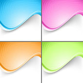 Colorful wave folder templates set — Stock Vector