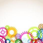 Gear mechanism abstraction — Stock Vector