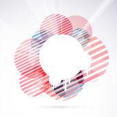 Modernistic circle  retro design element — Stock Vector