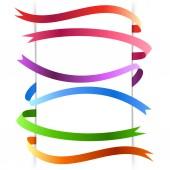 Bright web colorful stripes — Stock Vector