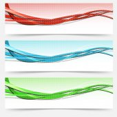 Swoosh lines cards set — Stock Vector