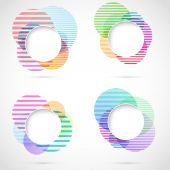 Striped circular elements — Stockvector