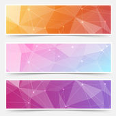 Web crystal structure banner headers — Stock Vector