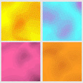 Pop-art style dotted backgrounds collection — Vetor de Stock