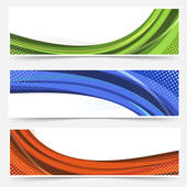 Waves line banners — Stock Vector